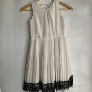 BLUSH GIRLS PARTY DRESS CREAM WITH BLACK LACE 8